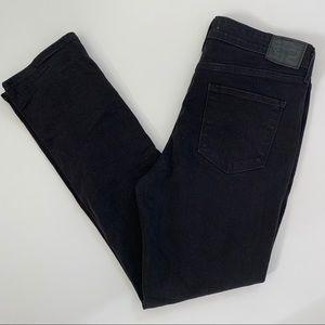 Levi's Mid Rise Skinny Jeans Black Stretch 12